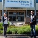 130 Schutzvisiere an das Krankenhaus Ehingen